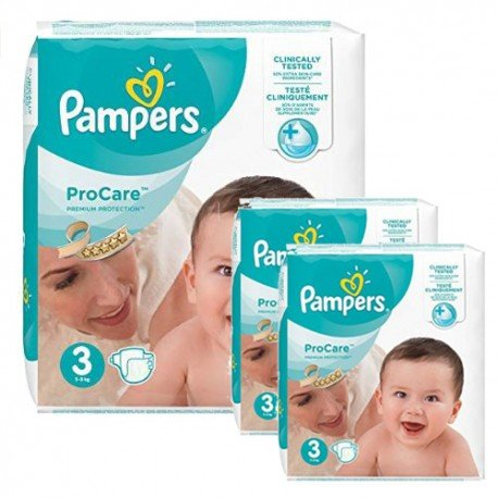 Pack 96 Couches Pampers ProCare Premium protection taille 3 sur Couches Zone