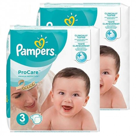 Mega pack 128 Couches Pampers ProCare Premium protection taille 3 sur Couches Zone