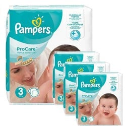 Pack jumeaux 512 Couches Pampers ProCare Premium protection taille 3