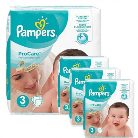Pack jumeaux 512 Couches Pampers ProCare Premium protection taille 3 sur Couches Zone