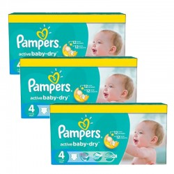 91 Couches Pampers Active Baby Dry taille 4 sur Couches Zone
