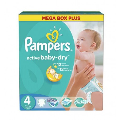 325 Couches Pampers Active Baby Dry taille 4 sur Couches Zone