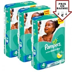 Maxi mega pack 403 Couches Pampers Active Baby Dry taille 4