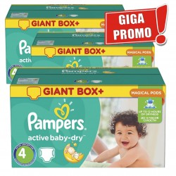 Pack jumeaux 520 Couches Pampers Active Baby Dry taille 4