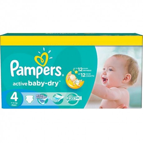 Pack jumeaux 624 Couches Pampers Active Baby Dry taille 4 sur Couches Zone
