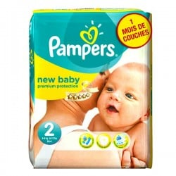 Pack 82 Couches Pampers New Baby Premium Protection taille 2 sur Couches Zone