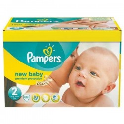 Maxi mega pack 492 Couches Pampers New Baby Premium Protection taille 2 sur Couches Zone