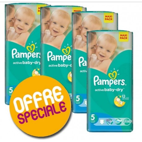 275 Couches Pampers Active Baby Dry taille 5 sur Couches Zone