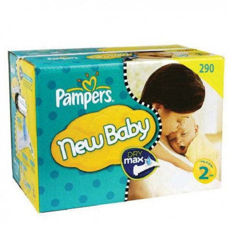 Pack jumeaux 574 Couches Pampers New Baby Premium Protection taille 2 sur Couches Zone