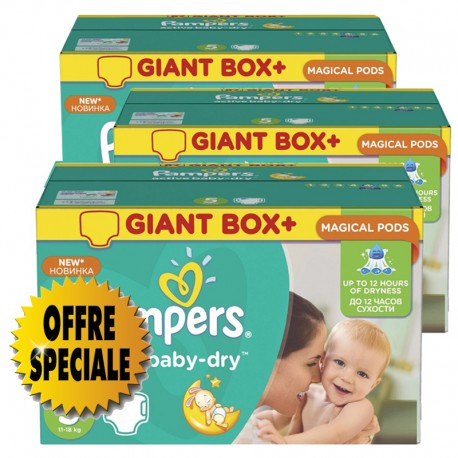 297 Couches Pampers Active Baby Dry taille 5 sur Couches Zone