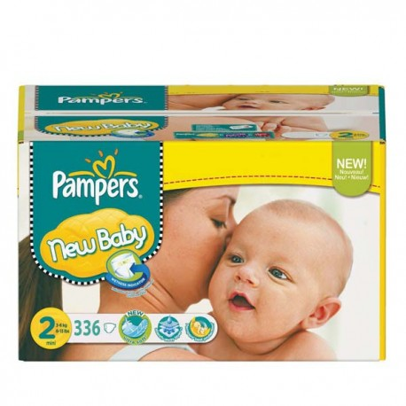 Pack jumeaux 656 Couches Pampers New Baby Premium Protection taille 2 sur Couches Zone