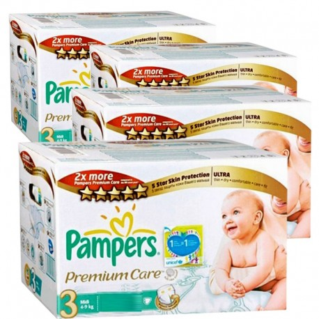 Pack 40 Couches Pampers Premium Care taille 3 sur Couches Zone