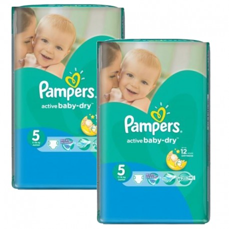 506 Couches Pampers Active Baby Dry taille 5 sur Couches Zone