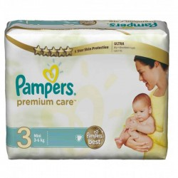 Mega pack 140 Couches Pampers Premium Care taille 3 sur Couches Zone
