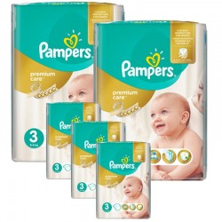 Mega pack 160 Couches Pampers Premium Care taille 3