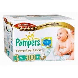 Maxi giga pack 380 Couches Pampers Premium Care taille 3 sur Couches Zone