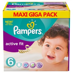 Mega pack 128 Couches Pampers Active Fit taille 6 sur Couches Zone
