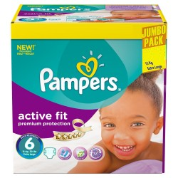 Giga pack 256 Couches Pampers Active Fit taille 6 sur Couches Zone