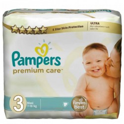 Maxi mega pack 400 Couches Pampers Premium Care taille 3