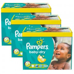 Maxi giga pack 375 Couches Pampers Baby Dry taille 5+ sur Couches Zone