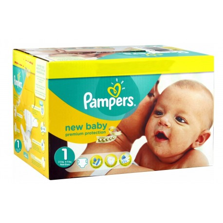 Maxi mega pack 432 Couches Pampers New Baby Premium Protection taille 1 sur Couches Zone