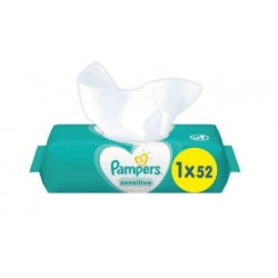 Pack 52 Lingettes Bébés Pampers Sensitive sur Couches Zone