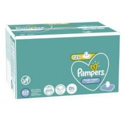 Maxi mega pack 416 Lingettes Bébés Pampers Fresh Clean sur Couches Zone