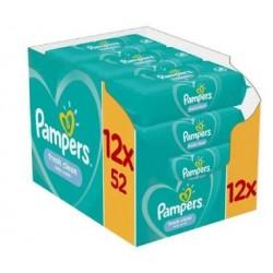 Pack jumeaux 520 Lingettes Bébés Pampers Fresh Clean sur Couches Zone
