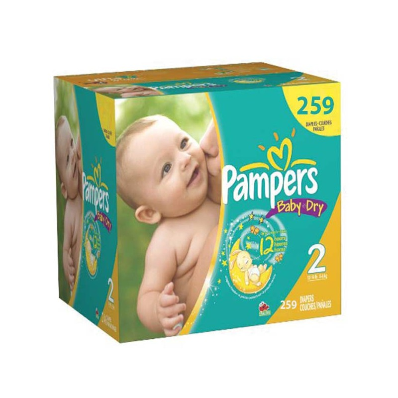 259 Couches Pampers Baby Dry Taille 2 Pas Cher Sur Couches Zone