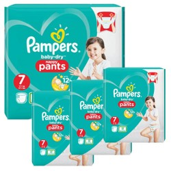 Pack 42 Couches Pampers Baby Dry Pants taille 7 sur Couches Zone