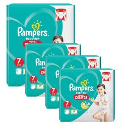 Pack 63 Couches Pampers Baby Dry Pants taille 7 sur Couches Zone