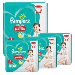 Mega pack 189 Couches Pampers Baby Dry Pants taille 7 sur Couches Zone