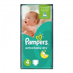 Pack 62 Couches Pampers Active Baby Dry taille 4 sur Couches Zone