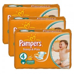 Mega pack 136 Couches Pampers Sleep & Play taille 4 sur Couches Zone