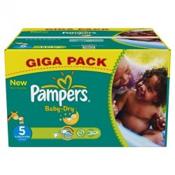Giga pack 222 Couches Pampers Baby Dry taille 5