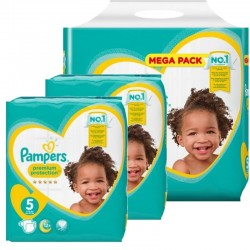 Maxi mega pack 408 Couches Pampers New Baby Premium Protection taille 5 sur Couches Zone