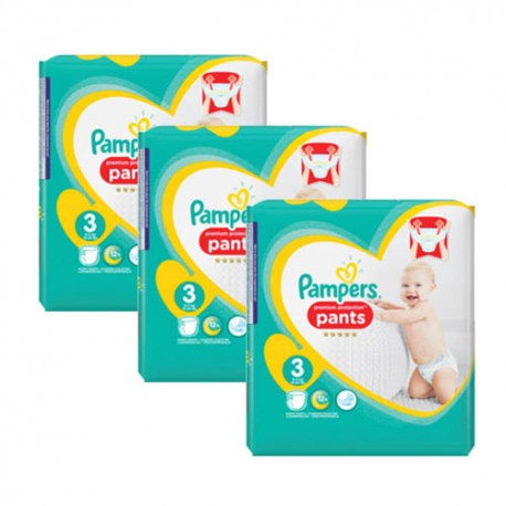 Mega pack 175 Couches Pampers Premium Protection Pants taille 3 sur Couches Zone
