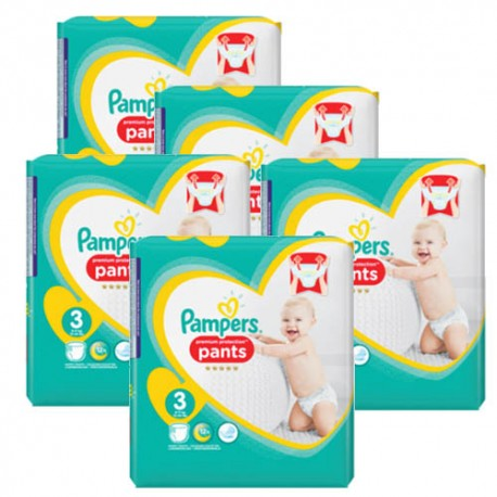 210 Couches Pampers Premium Protection Pants taille 3 sur Couches Zone