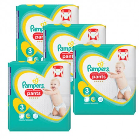 Giga pack 280 Couches Pampers Premium Protection Pants taille 3 sur Couches Zone