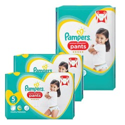 Mega pack 120 Couches Pampers Premium Protection Pants taille 5