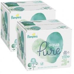 Mega pack 180 Lingettes Bébés Pampers Aqua Pure sur Couches Zone