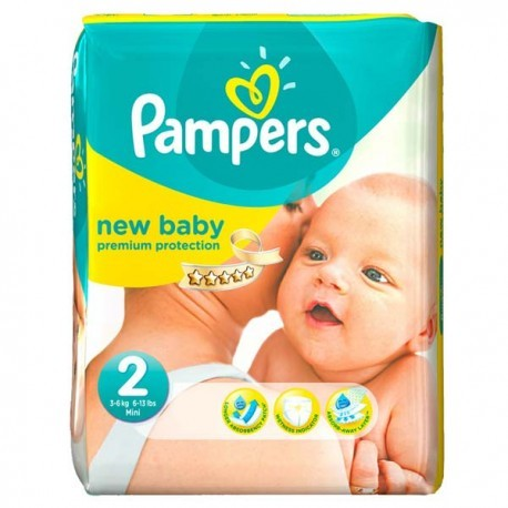 Pack 66 Couches Pampers New Baby Dry taille 2 sur Couches Zone