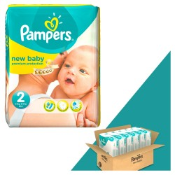 Mega pack 198 Couches Pampers New Baby Dry taille 2