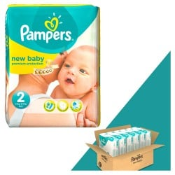 Mega pack 198 Couches Pampers New Baby Dry taille 2 sur Couches Zone