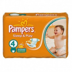 Pack 68 Couches Pampers Sleep & Play taille 4 sur Couches Zone
