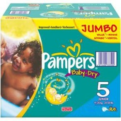 Mega pack 120 Couches Pampers Baby Dry taille 5