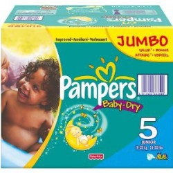 Mega pack 150 Couches Pampers Baby Dry taille 5