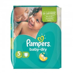Pack 74 Couches Pampers Baby Dry taille 5