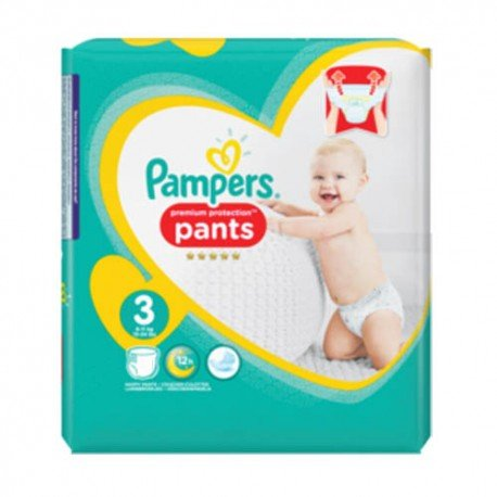 Pack 35 Couches Pampers Premium Protection Pants taille 3 sur Couches Zone