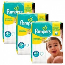 Mega pack 189 Couches Pampers New Baby Premium Protection taille 4+ sur Couches Zone